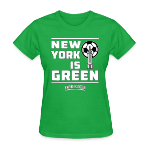 NY is GREEN - Women's T-Shirt, Green - Women's T-Shirt