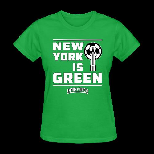NY is GREEN - Women's T-Shirt, Green - Women's T-Shirt