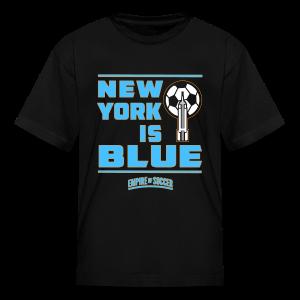NY is BLUE - Kid's T-Shirt, Black - Kids' T-Shirt