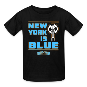 NY is BLUE - Kid's T-Shirt, Black - Kids' T-Shirt