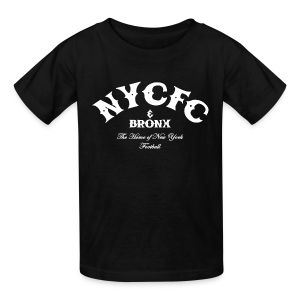 N.Y.C.F.C & Bronx – Kid's T-Shirt, Black - Kids' T-Shirt
