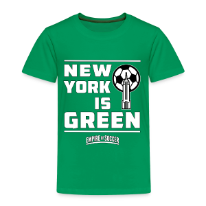 NY is GREEN - Kid's T-Shirt, Green - Toddler Premium T-Shirt
