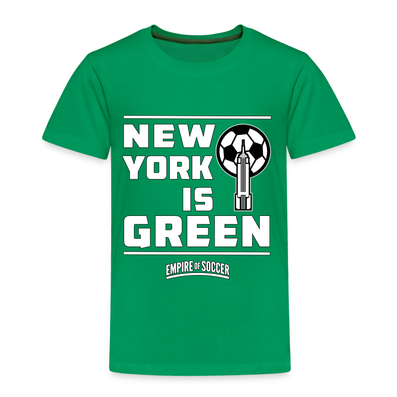 NY is GREEN - Kid's T-Shirt, Green - Toddler Premium T-Shirt