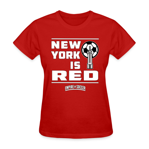 NY is RED - Women's T-Shirt, Red - Women's T-Shirt