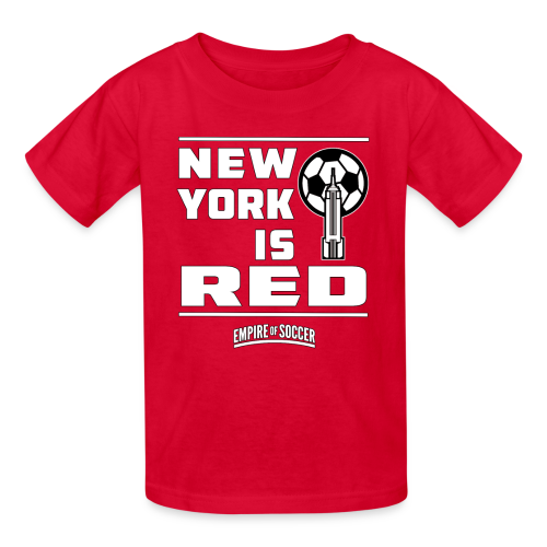 NY is RED - Kid's T-Shirt, Red - Kids' T-Shirt