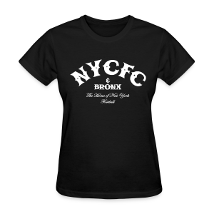 N.Y.C.F.C & Bronx – Women's T-Shirt, Black - Women's T-Shirt