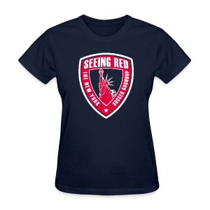 Seeing Red - Women's T-Shirt, Navy - Women's T-Shirt