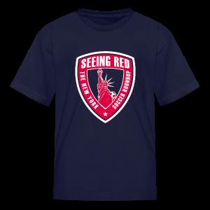 Seeing Red - Kid's T-Shirt, Navy - Kids' T-Shirt