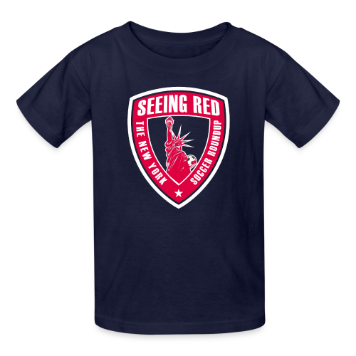 Seeing Red - Kid's T-Shirt, Navy - Kids' T-Shirt