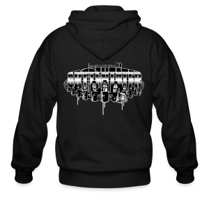 Arttentäter5 - make art, not war - Men's Zip Hoodie