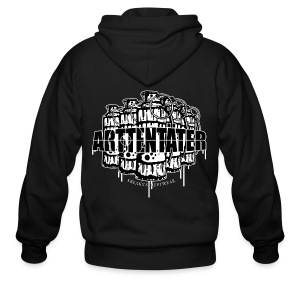 Arttentäter2 - make art, not war - Men's Zip Hoodie