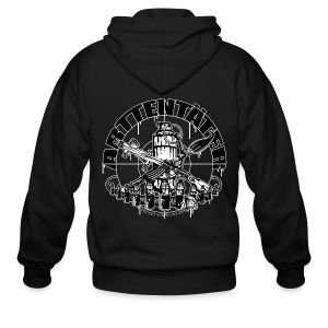 Arttentäter1 - make art, not war - Men's Zip Hoodie