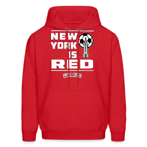 NY is RED - Men's Hoodie, Red - Men's Hoodie
