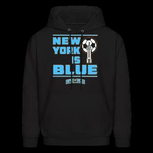 NY is BLUE - Men's Hoodie, Black - Men's Hoodie