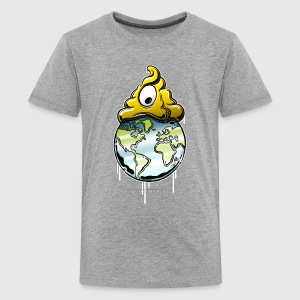 shit rules the world T-shirts Enfant - T-shirt premium pour ados