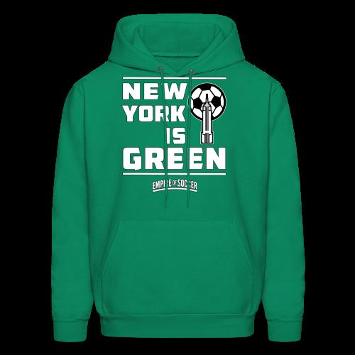 NY is GREEN - Men's Hoodie, Green - Men's Hoodie