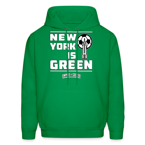 NY is GREEN - Men's Hoodie, Green - Men's Hoodie