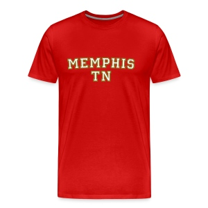 Memphis TN College White/Gold T-Shirt - Men's Premium T-Shirt