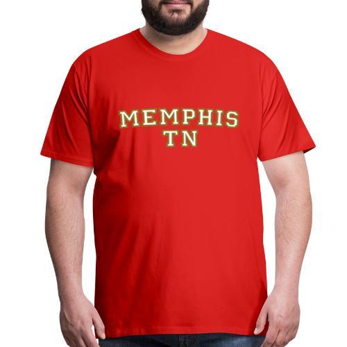 Memphis TN College White/Gold T-Shirt - Men's Premium T-Shirt