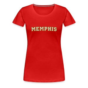 Memphis College White/Gold T-Shirt - Women's Premium T-Shirt