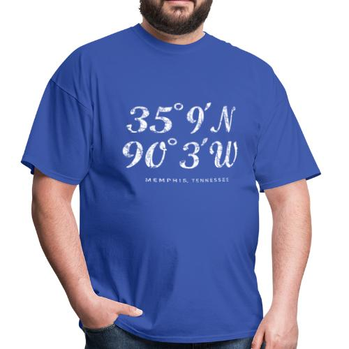 Memphis, Tennessee Coordinates T-Shirt (Men/Blue) - Men's T-Shirt
