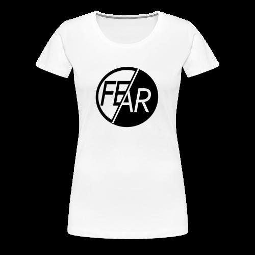 Women's No Fear Tee | Black & White - Women's Premium T-Shirt