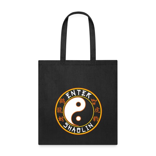 Enter Shaolin Canvas Tote Bag in Black (Main Logo) - Tote Bag