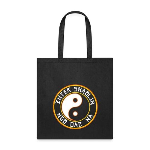 Enter Shaolin Canvas Tote Bag in Black (Double Sided with Both Logos) - Tote Bag