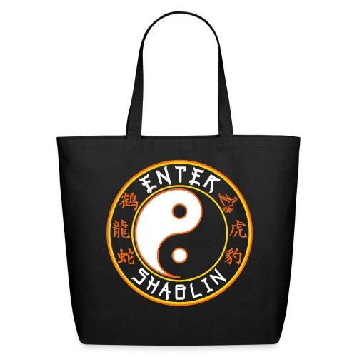 Enter Shaolin Eco-Friendly Cotton Tote in Black (Main Logo) - Eco-Friendly Cotton Tote
