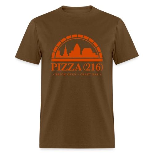 Pizza (216) T-Shirt (Orange Logo) - Men's T-Shirt