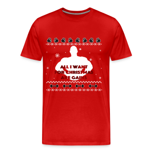 All I Want For Christmas Are Gains Inspiration - Men's Premium T-Shirt