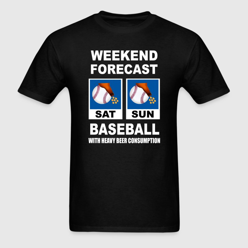 Baseball Funny Weekend Forecast T-Shirts - Men's T-Shirt