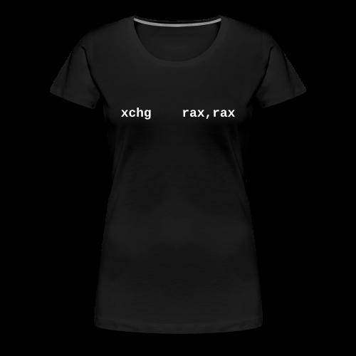 xchg_rax_rax_female - Women's Premium T-Shirt