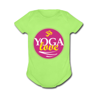 Baby Bodysuits ~ Baby Short Sleeve One Piece ~ YOGA LOVE