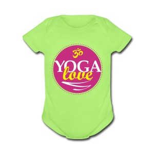 YOGA LOVE - Short Sleeve Baby Bodysuit