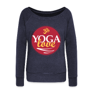 Long Sleeve Shirts ~ Women's Wideneck Sweatshirt ~ YOGA LOVE