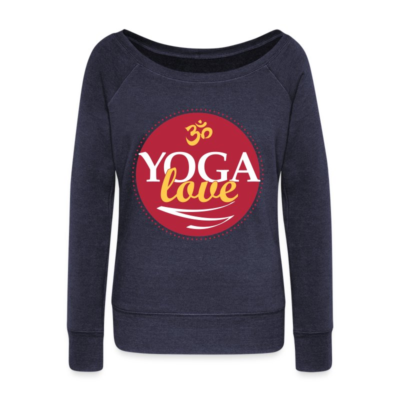 YOGA LOVE - Women's Wideneck Sweatshirt