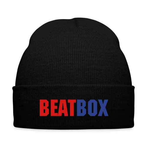 ''BEATBOX'' Beanie - Knit Cap with Cuff Print