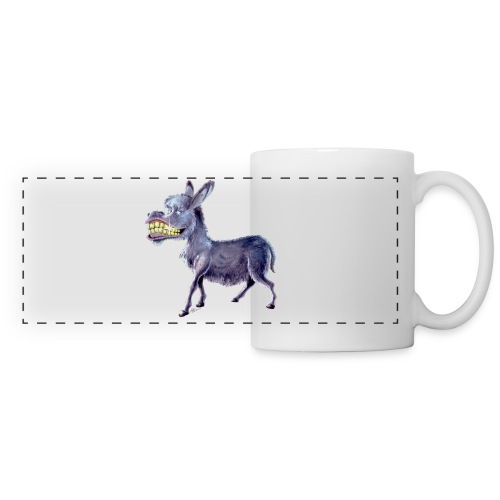Funny Keep Smiling Donkey - Panoramic Mug