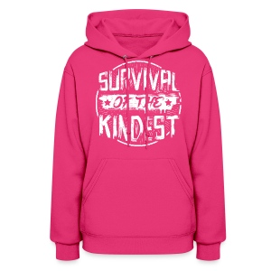 Women's Hoodie 'SURVIVAL OF THE KINDEST' - Women's Hoodie