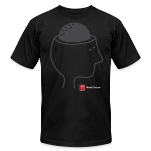 Black Golf Brain T-shirt - Men's Fine Jersey T-Shirt