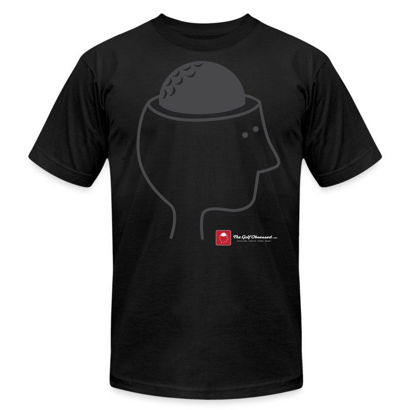Black Golf Brain T-shirt - Men's Fine Jersey T-Shirt