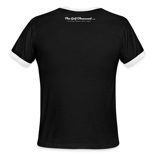 """Black/white Ringer """"Keep Calm"""" T-shirt"""