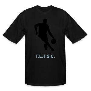 T.LT.S.C. LONG T SHIRT WITH A BASKETBALL PLAYER LOGO - Men's Tall T-Shirt