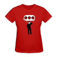 T-Shirts ~ Women's T-Shirt ~ Three Sea Shells [seashells]