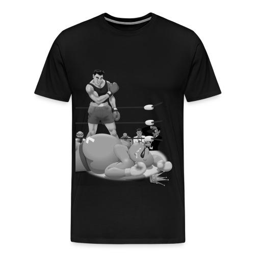 Vintage Knock-Out (B&W) - Men's Premium T-Shirt