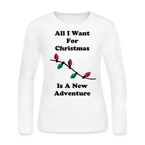 All I Want For Christmas Long Sleeve Tee - Women's Long Sleeve Jersey T-Shirt