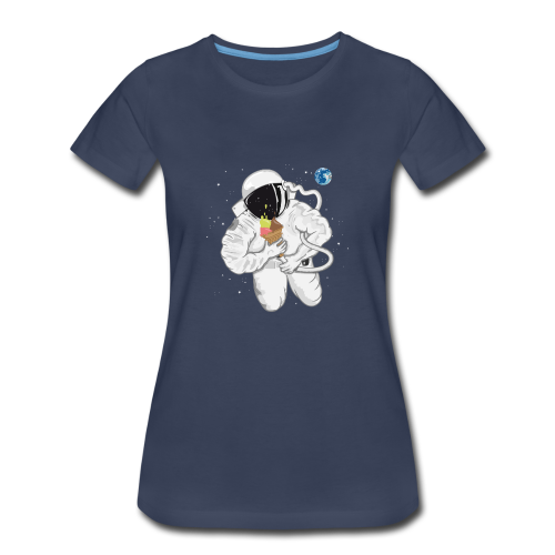 Astronaut With Ice Cream - Women's T-Shirt - Women's Premium T-Shirt