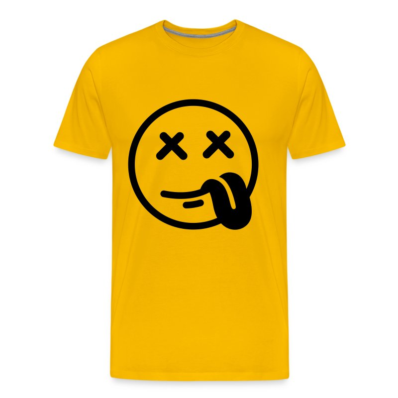 smiley stoned t shirt spreadshirt. Black Bedroom Furniture Sets. Home Design Ideas