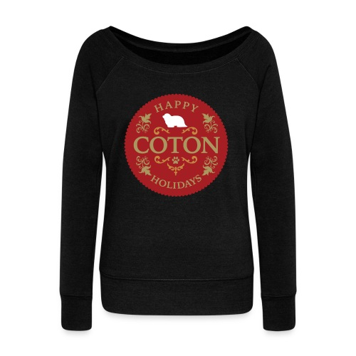 Proud Coton Mom - Women's Wideneck Sweatshirt